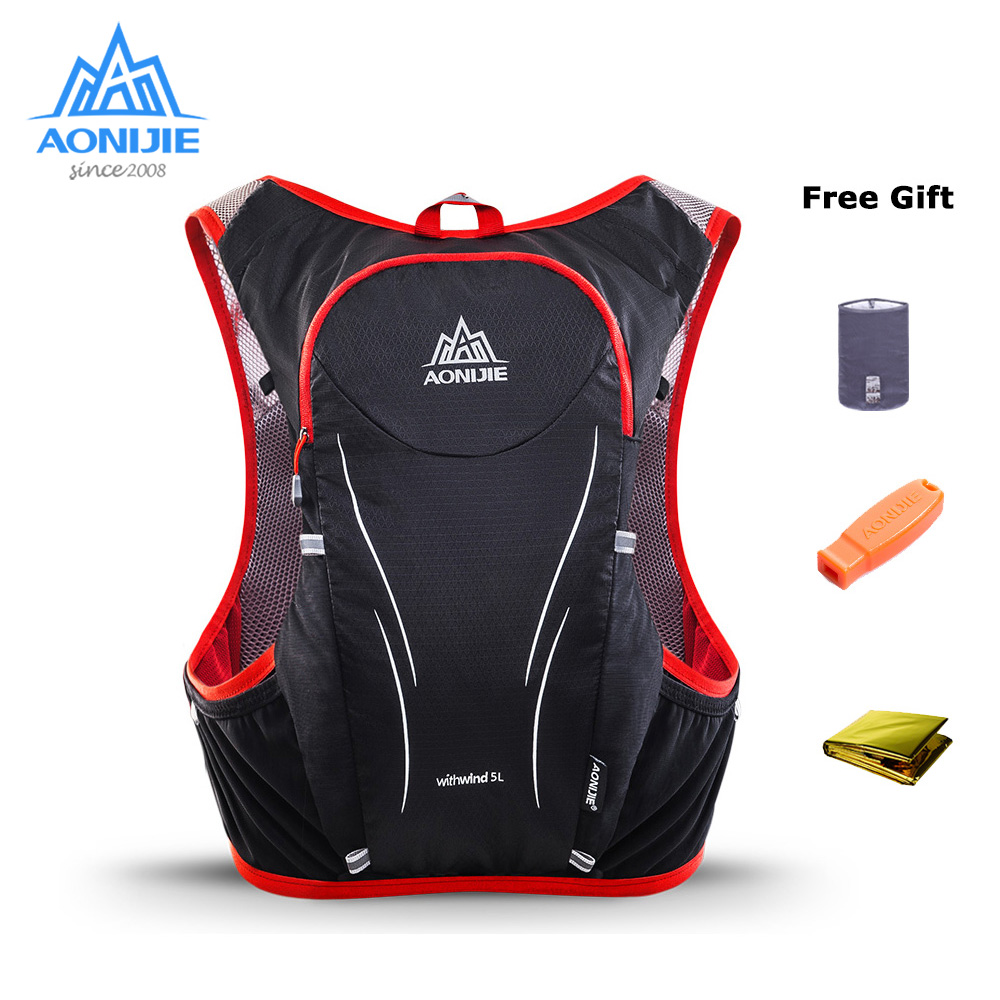 AONIJIE 5L C928 Hydration Pack Backpack Rucksack Bag Vest For 2L Water Bladder Flask Running Marathon Race Sports-in Running Bags from Sports & Entertainment on AliExpress