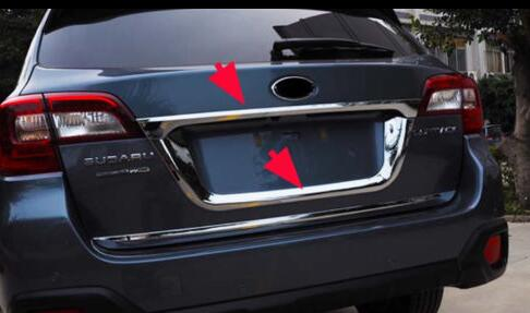 Chrome Rear Trunk Tail Gate Door Lid Cover Boot Trim Edge Protector Molding Strip Garnish for Subaru Outback 2015 2016 rear garnish garnish molding trim cover - title=