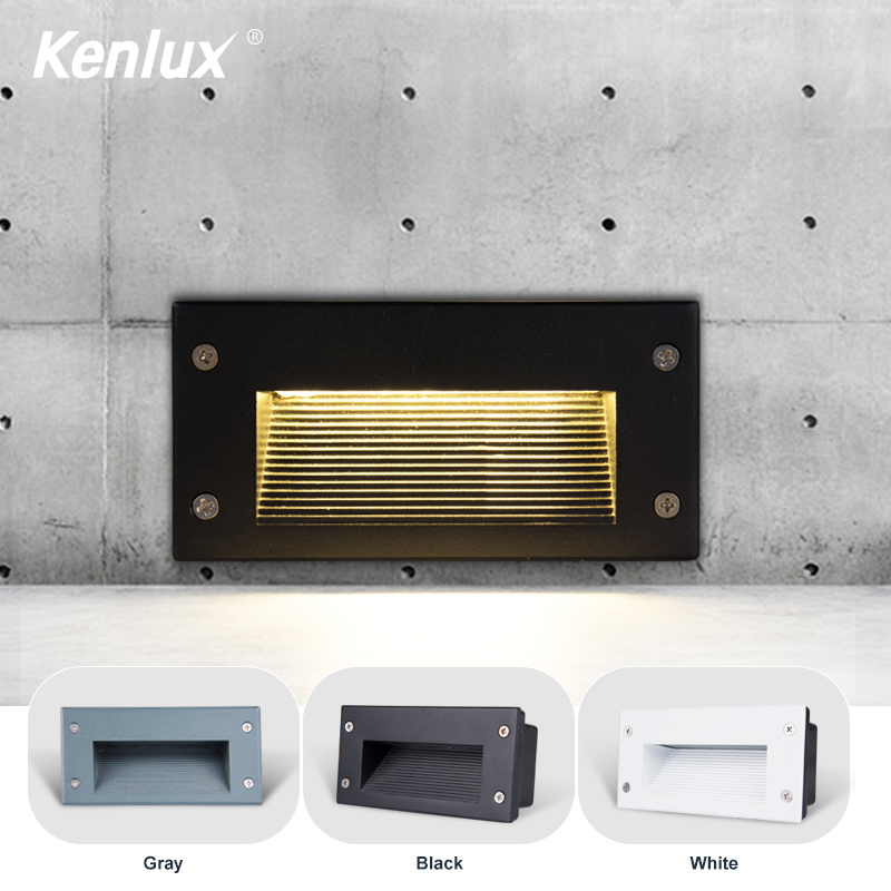 4pcs Led Stair Light Recessed Lights 3W 5W  AC85-265V Aluminum Outdoor Indoor Waterproof Embedded Lighting Step Deck Foot Light