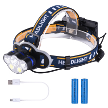 Portable Headlight LED Torch Light Flashlight Head Lamp Outdoor Camping Fishing LED Headlamp USB Rechargeable18650 D30