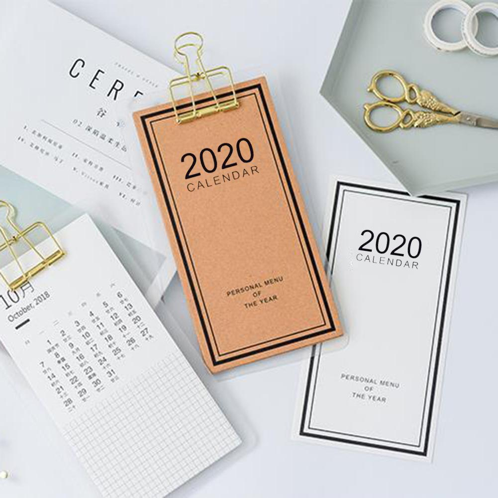 2020 Menustyle Calendar Simple Innovative Custom DIY Desk Calendar Small Wall Schedule Manager Planner School Office Stationery