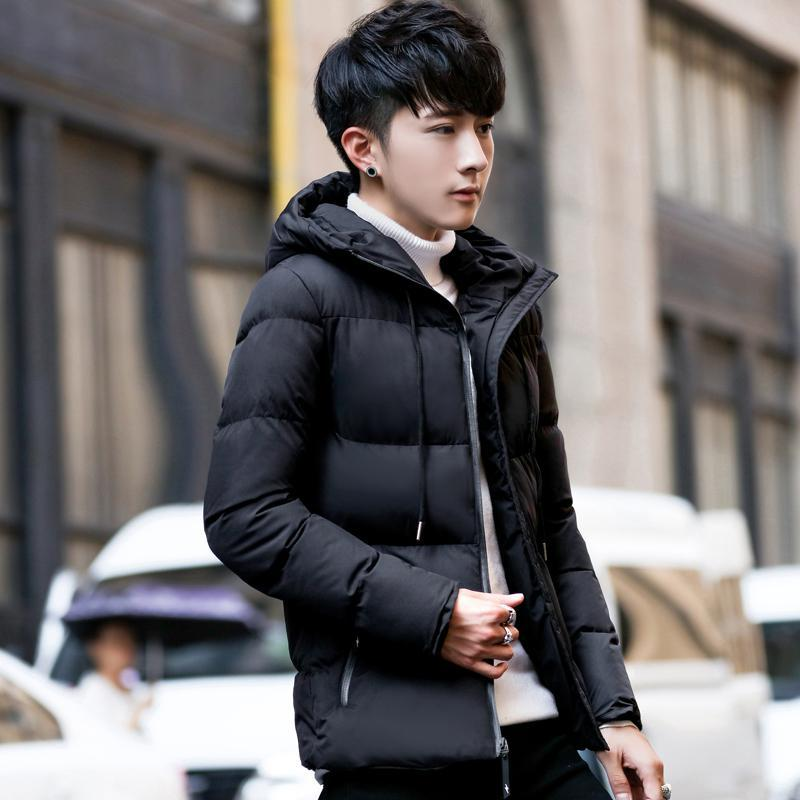 Men's Clothes Base Winter New Style Cotton-padded Clothes Men's Korean-style Trend Youth Cool Hooded Thick Casual Versatile Cott