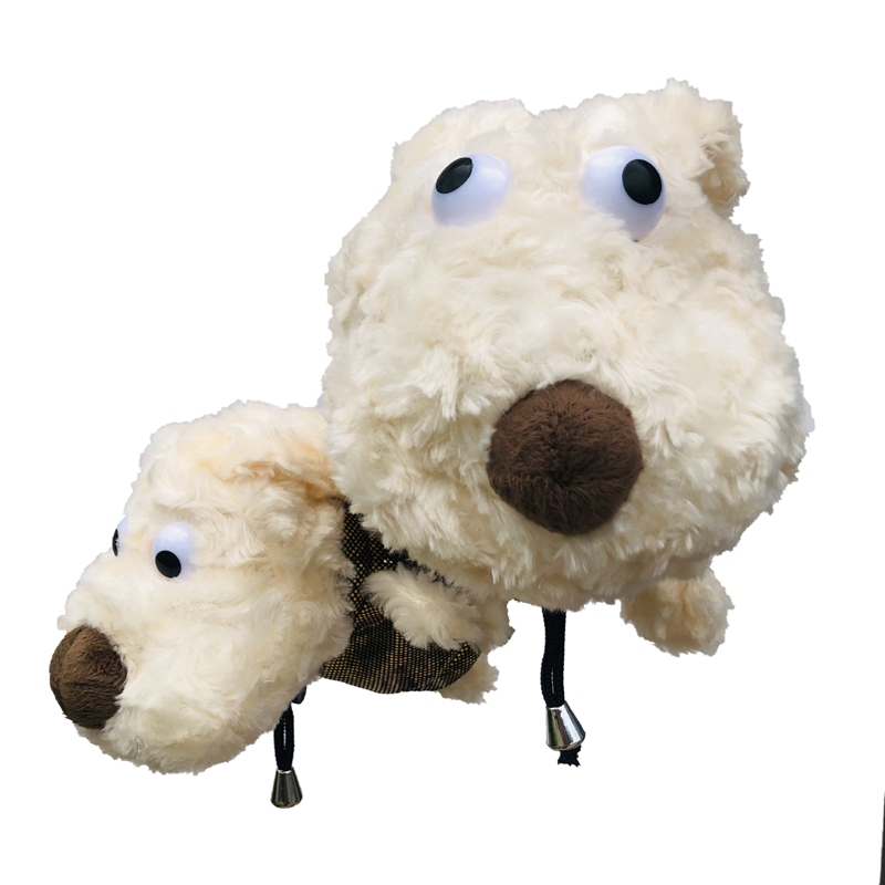 1pcs Plush Dog Golf Head Cover NO.3/5 For Driver Fairway Woods Clubs Outdoor Sport Plush Golf Clubs Headcovers