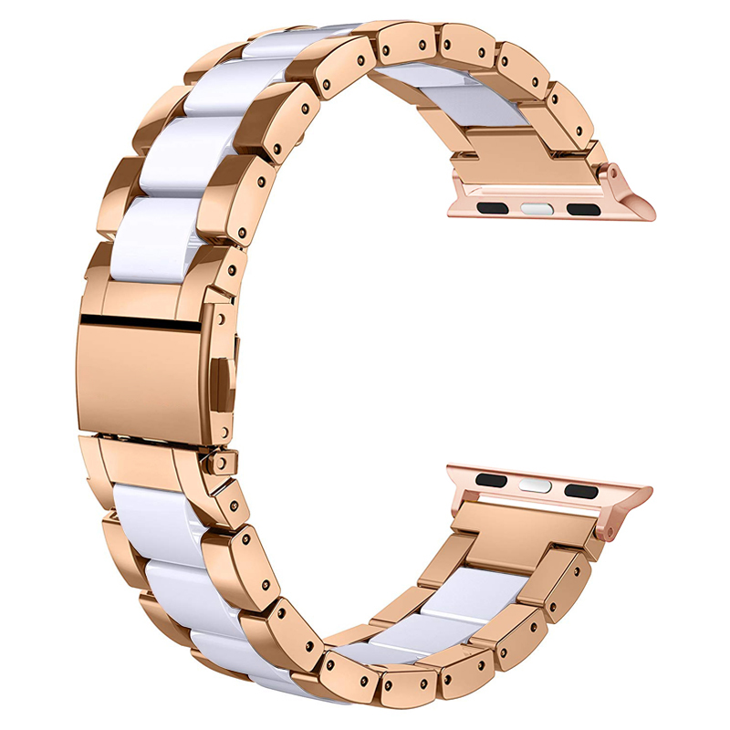 watch accessories strap for apple watch 5/4/3/2/1 apple watch band 42mm 38mm 44mm 40mm iwatch ceramics stainless steel bracelet