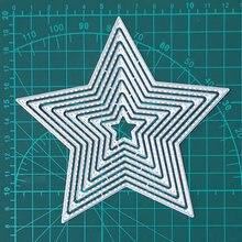 8 шт пятиконечные и звездочные металлические режущие штампы