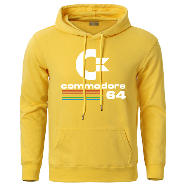 Commodore 64 Hoodies Men Fashion Streetwear Hooded 2020 Autumn Winter Hoody Pullovers Sweatshirt Harajuku Warm Hip Hop Tracksuit