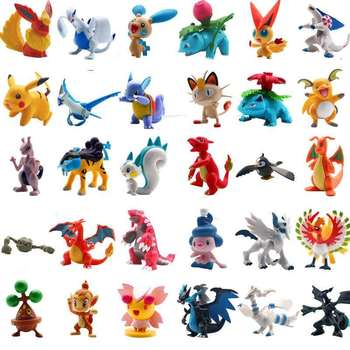 TAKARA TOMY Pokemones 24pcs/set Different Styles 2.5-3cm Hot Anime pokemon Action Figure Kids Birthday Gifts Model Toys недорого