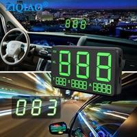 Head UP Display GPS Speedometer Display Digital Projector Auto Electronics Speed Display Car Speed Overspeed Alarm ZIQIAO C80