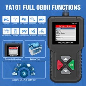 Image 2 - YA101 Full OBD2 Scanner OBDII Code Reader Car Diagnostic Tool OBD2 12V Automotive Scanner Engine Analyzer OBD2 Auto Scan Tool