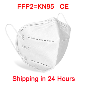 Mascarillas Tapabocas KN95 Mask 95% filtration Facial FFP2 Masks masque Dustproof maske Nonwoven Mouth Protective Face Mask