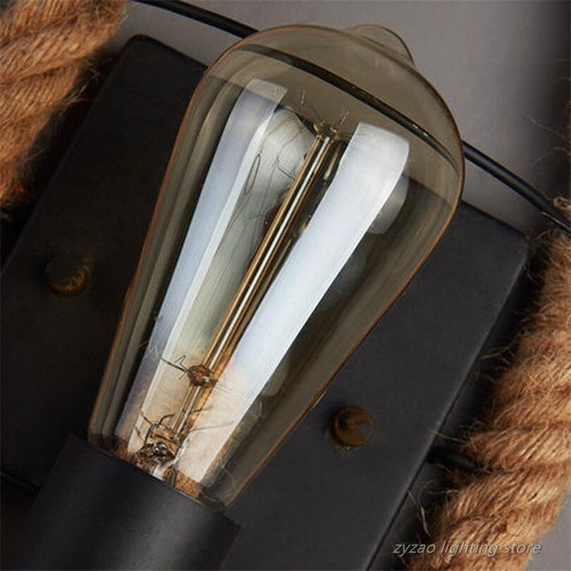 loft estilo retro corda de canhamo lampada 02