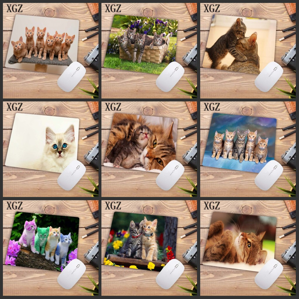 XGZ Cute Cat Picture Animal Mouse Pad Computer Mat Gaming Speed Mousepad  Keyboard Games Pc Gamer Desk Mat 18x22cm Big Promotion