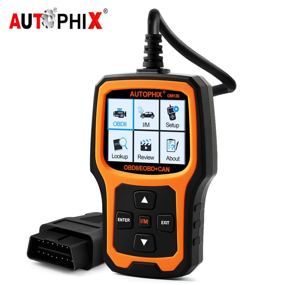 Autophix OM126 OBD2 Code Reader ECU Live Data OBD 2 Auto Scanner Multi-language OBD2 Auto Scanner PK ELM327 Car Diagnostic Tool