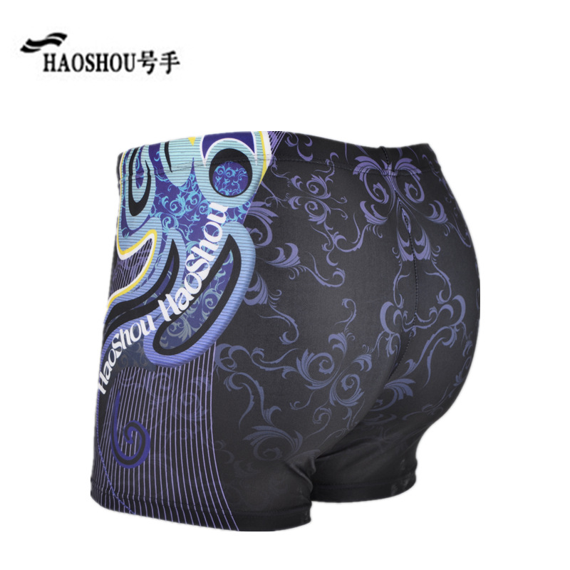 Cabinet Genuine Product HaoShou Swimming Trunks MEN'S Boxers Europe And America-Style Digital Printing Large Size Hot Springs Sw