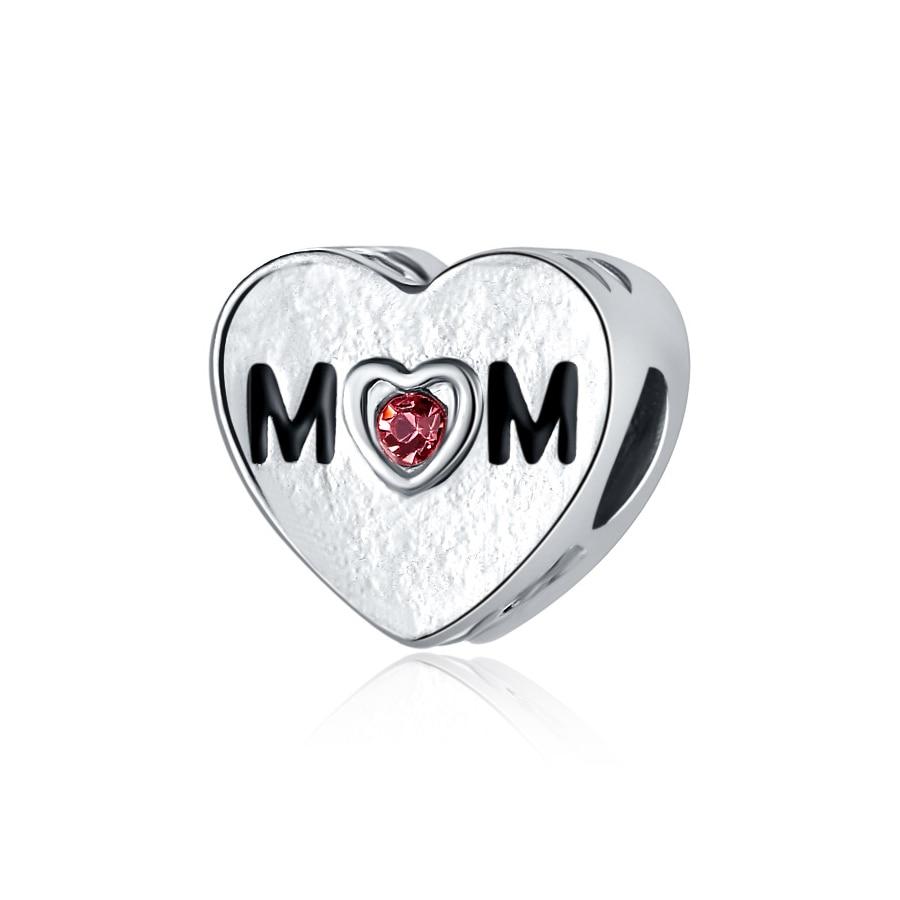 Новинка, сплав, бисерная подвеска в виде сердца для семьи, мамы, папы, любви, подходит для Пандоры, браслет, ожерелье, сделай сам, Женские Ювелирные изделия - Цвет: Mother Heart
