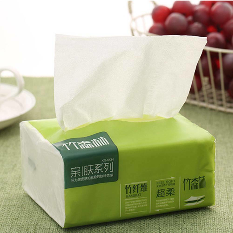 Native Bamboo Pulp Toilet Tissue Natural Color Pumping Paper Household Napkin Soft Skin-friendly Sanitary Paper Health
