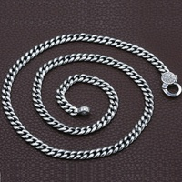 925 Sterling Silver Fashion Student Necklace six word Mantra With Peace Jewerly