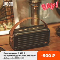 Divoom-Mocha de 40W con diseño Retro, altavoz inalámbrico portátil con Bluetooth de bajos superiores, 6 conductores para 25h de reproducción, decoración inteligente para el hogar