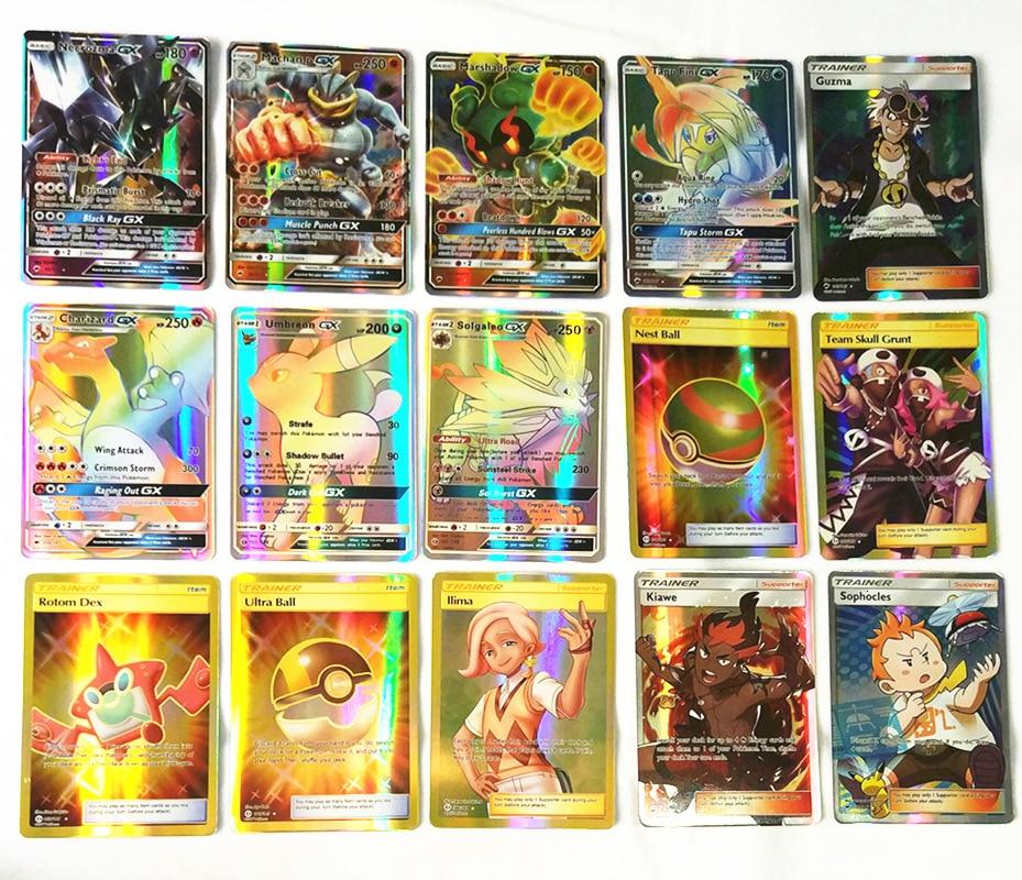 20 Pcs GX MEGA Shining Cards Game Battle Carte Trading Cards Game Children Pokemons Toy