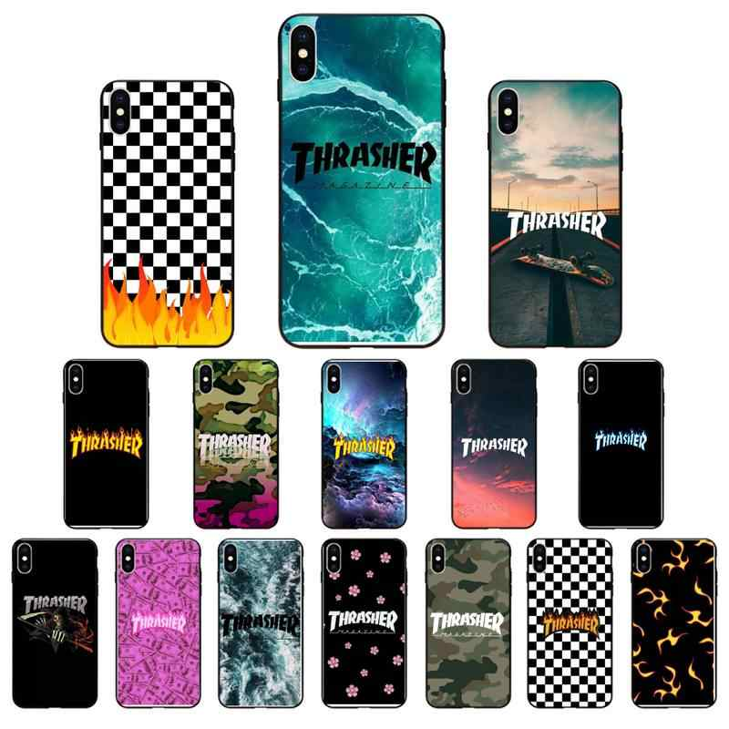 Babaite Thrasher Telefoon Case Cover Voor Iphone SE2 11 Pro Xs Max Xs Xr 8 7 6 Plus 5 5S Se Case