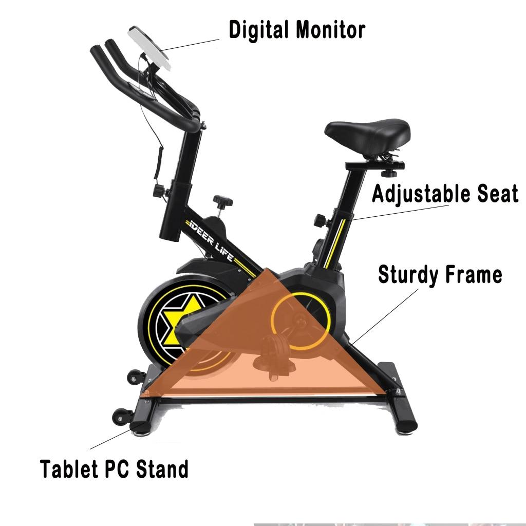 Vélo d'exercice maison ultra-silencieux intérieur perte de poids pédale vélo d'exercice vélo de rotation équipement de fitness intérieur - 2
