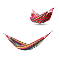 Hammock Outdoor Furniture Balcony Hammock Strap Bedroom Furniture Outdoor Camp Stripe Bed Bearing 250KG