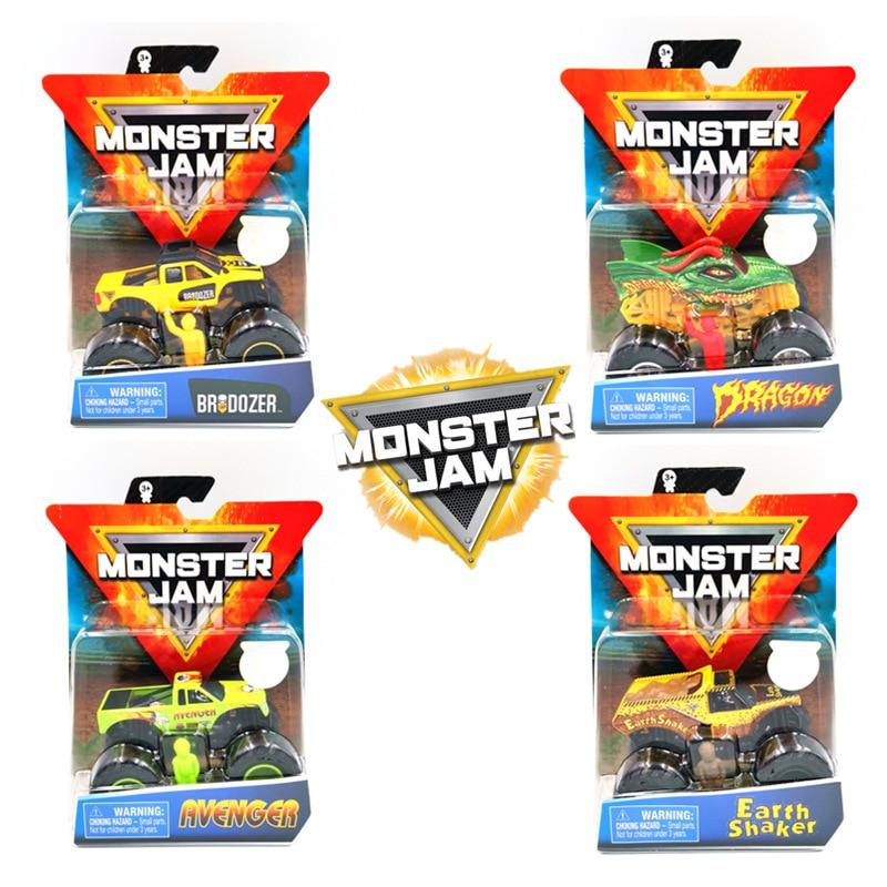 Monster Jam Monster Truck Boy CHILDREN'S Toy Alloy Car Model Inertia Four Wheel Drive