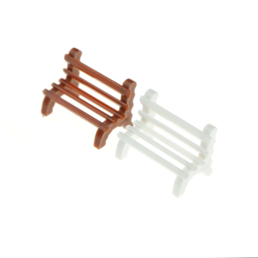 Park Benches Furniture Crafts Modern Accessories Toys Courtyard Decoration Miniature For 1:12 Dollhouse Garden Ornament