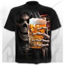 2020 t camisa masculina esqueleto camiseta punk rock tshirt 3d impressão oversized t camisa do vintage roupas masculinas verão preto topos mais tamanho