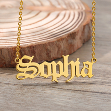 Custom Name Necklace Customized Nameplate Necklaces Personalized Stainless Steel Old English Style Vintage Font Jewelry Gifts personalized old english initials necklace custom letter necklaces