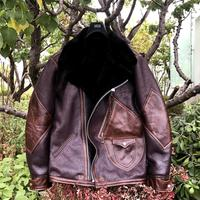 Red Brown Cowhide Genuine Leather Clothes Men's Fur One Bomber Jacket Men Real Leather Jackets and Coats