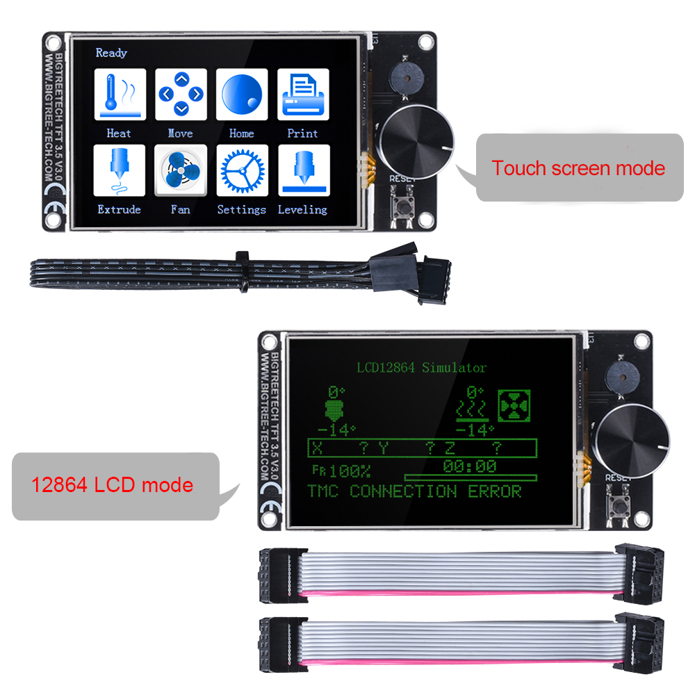 BIGTREETECH TFT35 Touch Screen for 3D Printer Supports SD Card and U-Disk Printing Mode 1