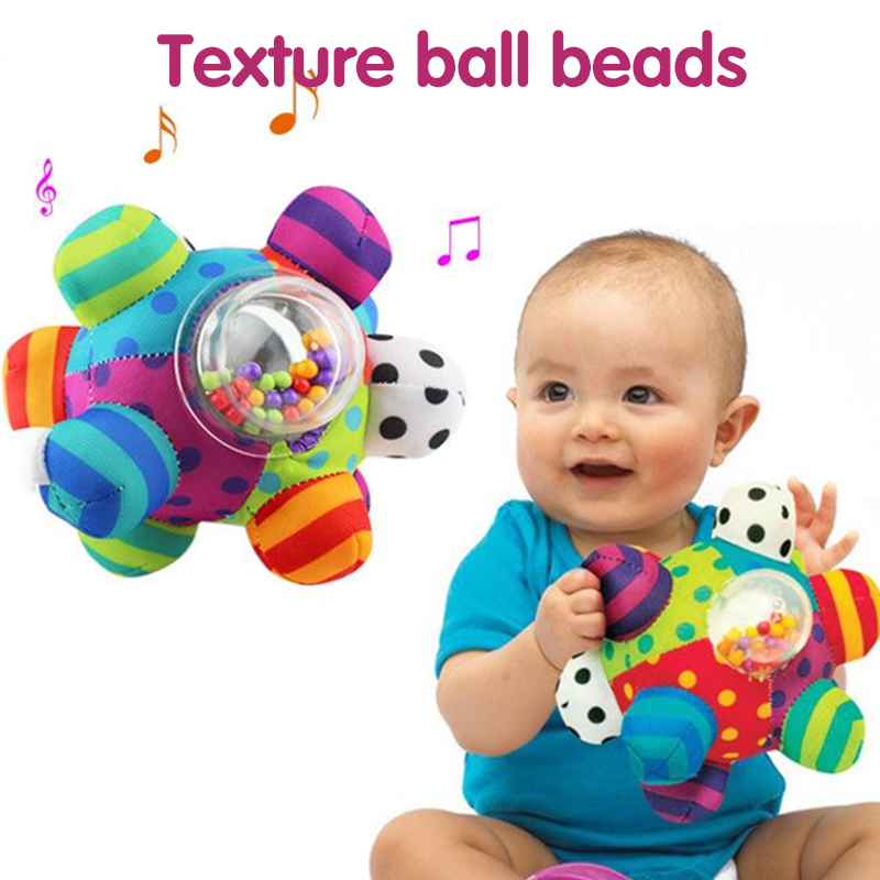Baby Ball Rattles Baby Toys Fun Little Loud Bell Toy Develop Baby Intelligence Grasping Toy HandBell Rattle Toys For Baby/Infant
