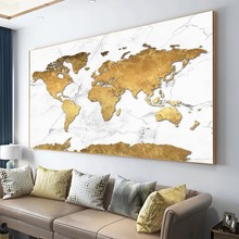 World Map Canvas Paintings Modern Big Size Posters and Prints Abstract Cuadros Wall Art Pictures for Living Room Home Decoration