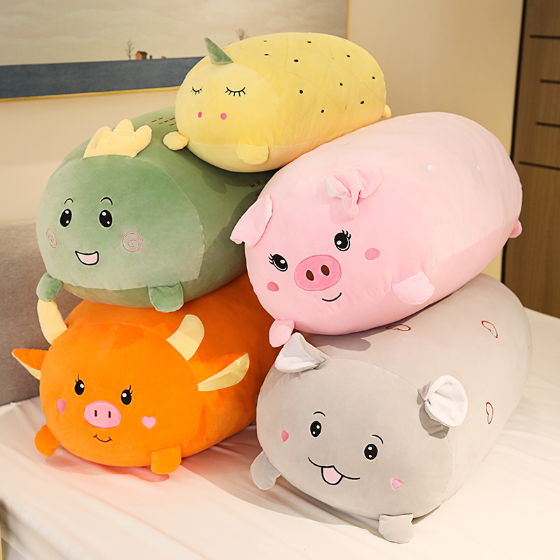 Soft and cute plush toy pillows