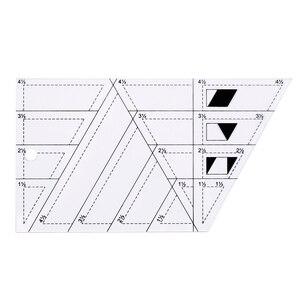 Image 3 - Lmdz 透明アクリル定規 45 度ダイヤモンド定規パッチワーククラフトキルティング定規切断定規スケールホーム縫製ツール