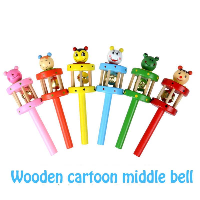 Glöckchen Rassel Handbell Tambourine Spielzeug für Baby Kinder