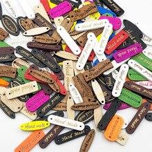 100 шт Смешанные цвета ручной работы письмо швейная пуговица из натурального дерева WB524