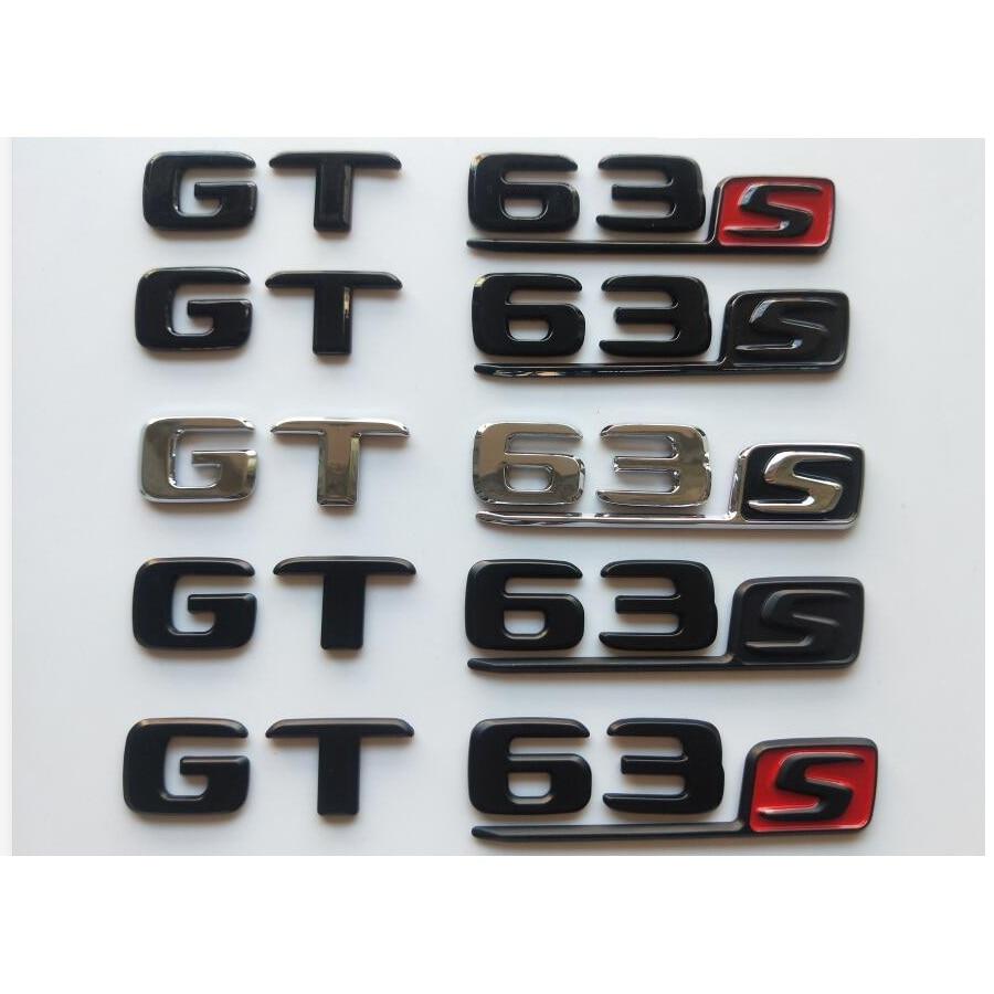 GTS Letter Trunk Emblem Rear Badge Sticker for Mercedes Benz AMG GT S 18 19 20