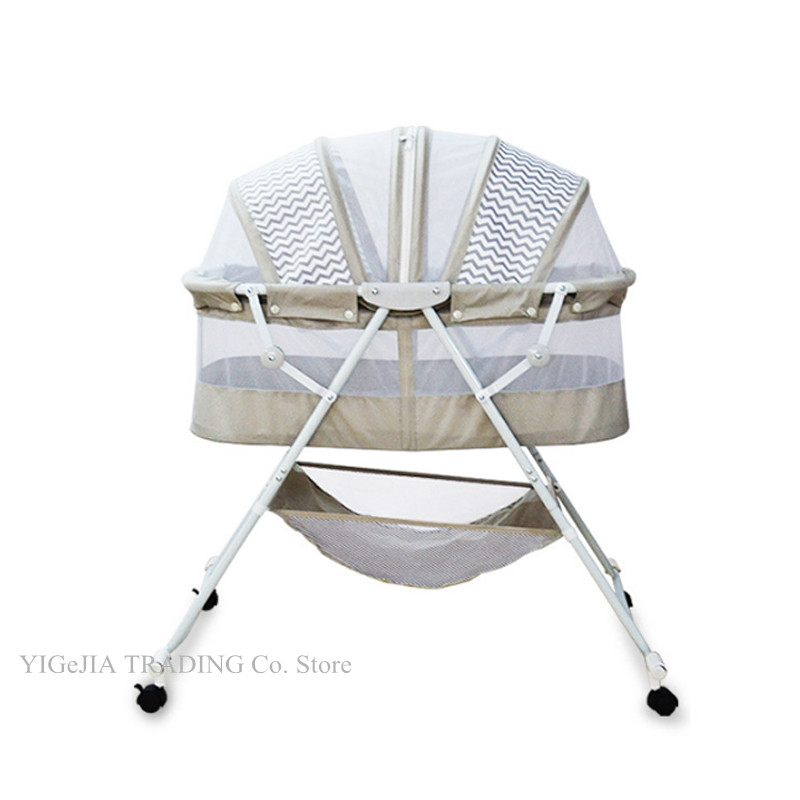 Multifunctional Baby Bed, Can Change To Baby Rocking Cradle, Portable Infant Bassinet With Lockable Wheels