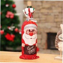 цена на Christmas Pendant Wine Bottle Applique for Christmas Decoration Hanging Ornaments Christmas Props DIY Accessories