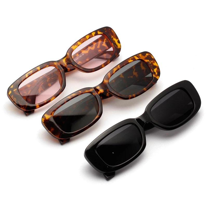 Модные женские очки винтажные Квадратные Солнцезащитные очки Роскошные трендовые солнцезащитные очки