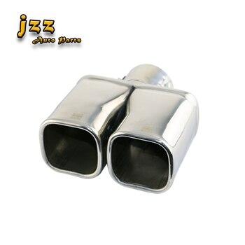 유니버설 1pcs 스테인레스 스틸 트윈 배기 3.5