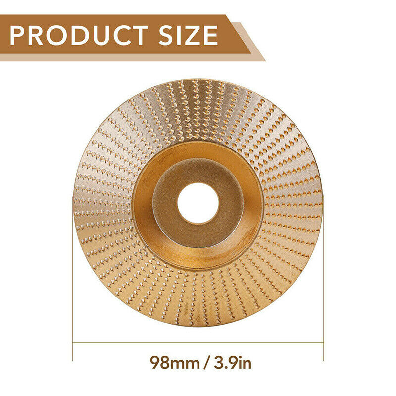 Tungsten Carbide Grinding Wheel Wood Angle Grinding Wheel Multifunctional 4 Size 75mm, 85mm, 98mm, 100mm Sanding Carving