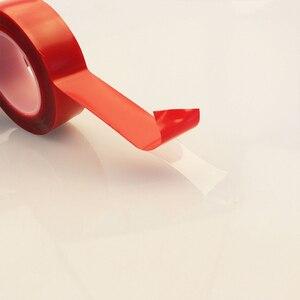 Image 5 - Adesivi per auto Rosso Trasparente In Silicone A Doppia Faccia Nastro Adesivo per Auto Ad Alta Resistenza Nessuna Traccia Adesivo Autoadesivo della parete del Salone Merci