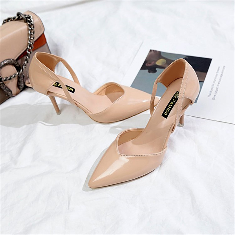 Sexy High Heels Female Stiletto Pointed Wild Hollow Nude Girl Single Shoes 2020 Fashion Summer Styl  High Heels Sandals Women