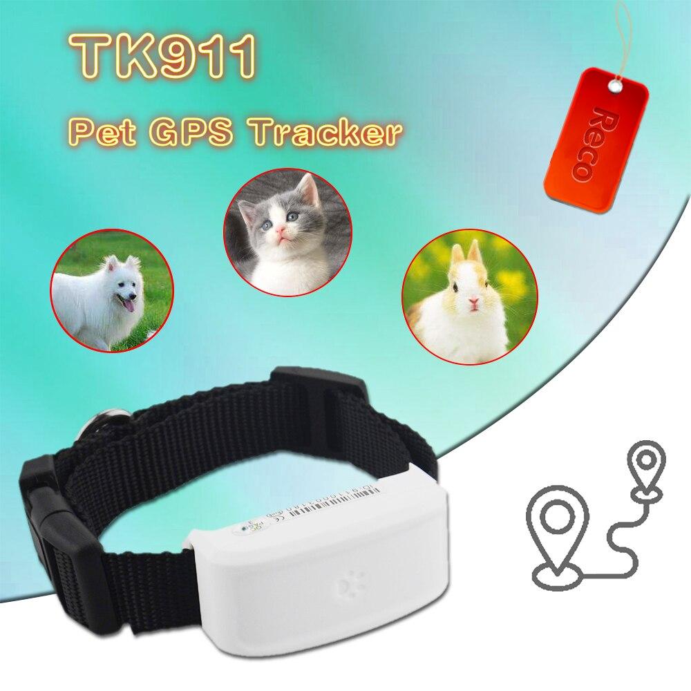 GPS-трекер TK911 для домашних животных, высокоточный водонепроницаемый локатор для кошек и собак, с ошейником для домашних животных, с поддержк...