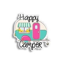 """Spersonalizowane naklejki 4 """"Happy Camper Sticker RV Trailer Retro Laptop samochód naklejka na zderzak i okna wodoodporne etykiety winylowe"""