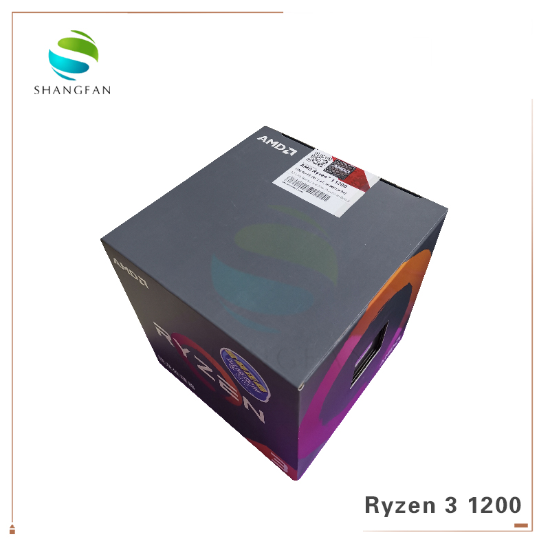 AMD Ryzen R3 1200 CPU Processor Quad-Core Socket AM4 3.1GHz 10MB TDP 65W Cache 14nm DDR4 Desktop YD1200BBM4KAE With Cooling Fan