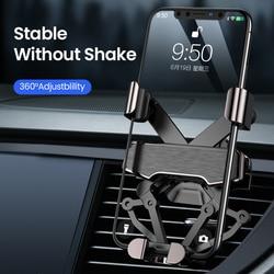 DIVI Gravity Car Phone Holder for Samsung huawei xiaomi Car Air Vent Clip Mount For iPhone 11 X Xs Max Xiaomi car Phone Stand